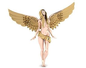 s angel pendant 3D