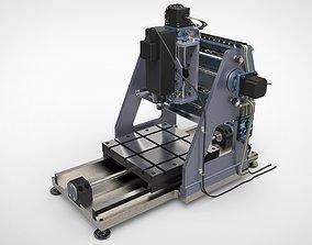 CNC Machine 3D model ballscrew