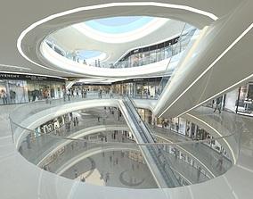 Exquisite Shopping Mall Interior public 3D model