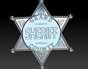 3D print model Sheriff badge 2