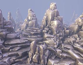 3D model Stylized Rocks