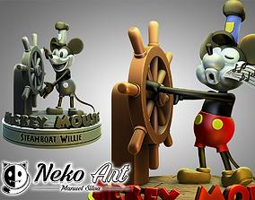 3D print model Fanart Mickey Mouse figure - Steamboat