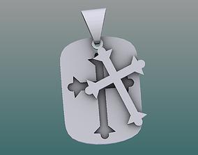 gold 3D asset low-poly Necklace