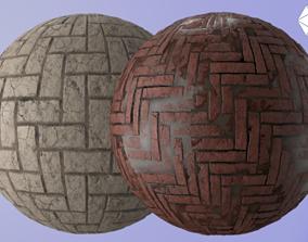 Brick Path Textures 3D