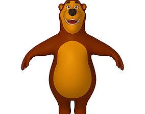 Bear Cartoon 02 3D
