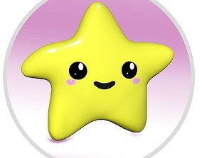 Cute Star Rigged Animated Unity ready 3D model
