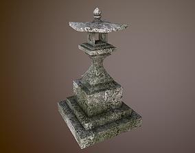3D asset Japanese stone lantern B