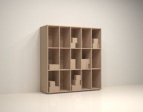 Wood Bookcase 3D