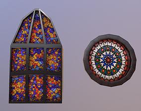 3D asset Low Poly Gothic Windows