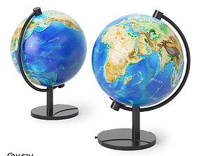 map Earth Globe 3D model