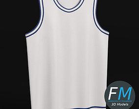 Flat basketball jersey 3D model