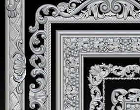 3D printable model Lot of 5 pcs Carved Frame Collection