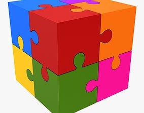 Puzzle Cube 3D asset
