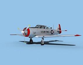 3D model North American AT-6 Texan V05 USAF
