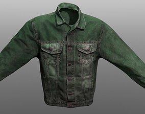 Jeans Jacket Closed 3D asset