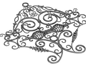 Wrought Iron Rail Clone Preset 3D model