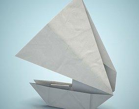 3D model Origami boat fbx