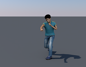 3D asset Pack of five characters with animations ar vr 1