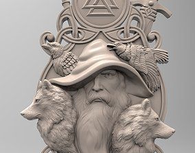 3D printable model Odin panel by Scandinavian mythology