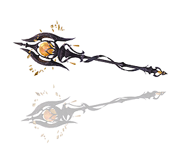 3D asset low-poly Relic Scepter