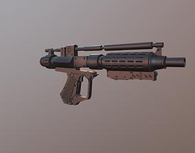 3D asset E-5 blaster rifle Blaster Droid