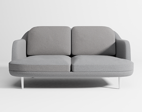 Lune sofa 2-seater 3D model