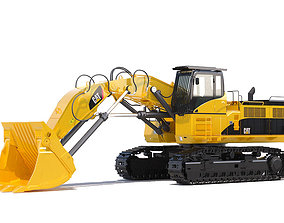 3D vehicle Front shovel excavator
