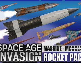3D asset Space Age Invasion Massive Modular Rocket Pack