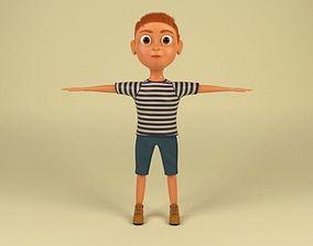 character Cartoon Boy 3D model realtime