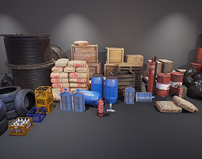 3D asset Industry Props Pack