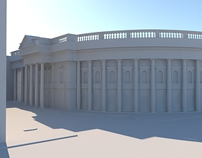 3D model Historic Building - Side Street View