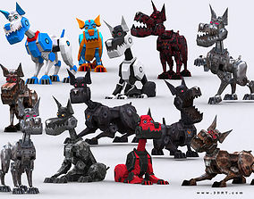 3DRT - Robodogs animated realtime