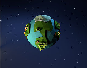 Low Poly Earth 3D model realtime