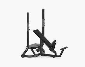 3D Technogym Pure Olympic Incline Bench