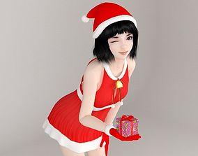Kayoko Christmas pose 01 3D