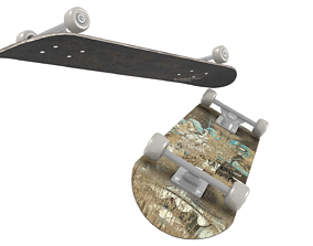 Dirty Old Skateboard 3D model