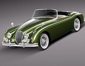 Jaguar XK150 roadster 1957 - 1961 3D Model