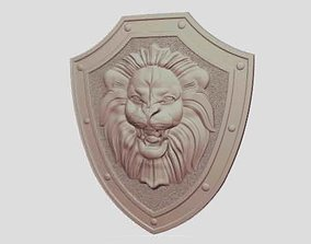 3D print model Lion Knight Shield