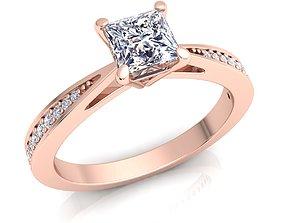 Engagement Ring rings precious 3D print model