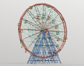 Denos Wonder Wheel Coney Island Carousel 3D