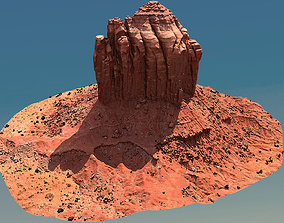 Scanned Canyon Cliff - F 3D model