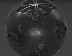 Sphere Black Clay 3D model