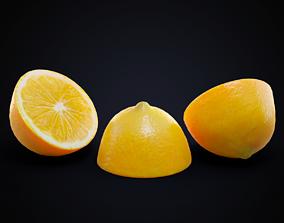 Lemon half 3D asset