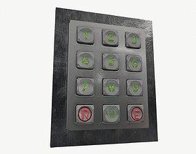 New keypad for locking doors 3D model