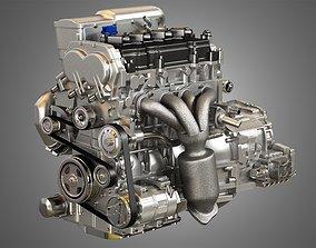Altima Hybrid 4 Cylinder 2012 Engine and 3D model