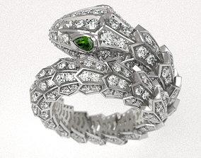 Serpenty snake ring 3D printable model