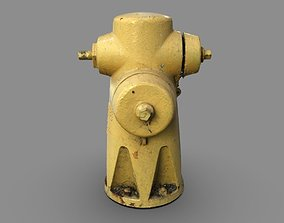 3D model Yellow Fire Hydrant 2
