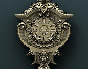 Wall clock 3d stl model for cnc miniatures