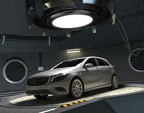 3D Mercedes A class w176 and garage