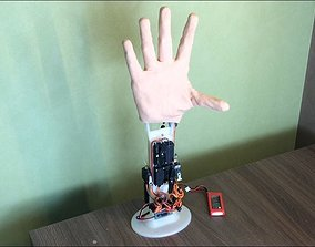 robot hand - bionic hand prosthesis 3D printable model 1
